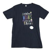 Kids Wish Network NWOT Tee T Shirt Womens L Large Blue I MAKE WISHES COME TRUE