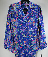 Ralph Lauren Paisley Sateen Classic Pajamas Blue 100% Cotton M Medium