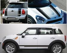 MINI COOPER COUNTRYMAN BONNET + BOOT + SIDE STRIPES STICKERS DECAL