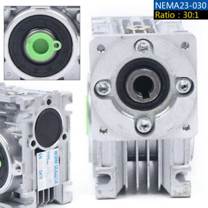 NEMA23-030 Worm Gear Speed Reducer Servo / Stepper Motor Gearbox Ratio 30:1