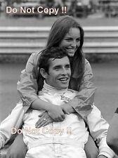Jacky § & esposa Catherine Ferrari F1 1970 fotografía de retrato