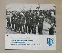 Programm 1.FC Magdeburg Turku PS 1972/73 DDR FCM TPS Fussball Suomi ohjelma