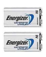 Energizer L522BP-2 Ultimate Lithium 9V Batterry - Pack of 2