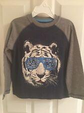 Nwt- Toddler Boys Arizona Blue And Gray Long Sleeve Shirt-Size 4