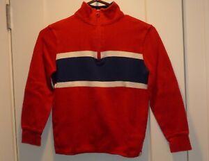 Gap Kids Boys Red 1/4 Zip Pullover Shirt Size XL (10-12)