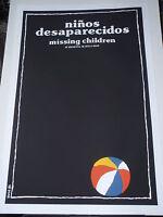 MISSING CHILDREN of Argentina Cuban Silkscreen Movie Poster / CUBA Art by Bachs