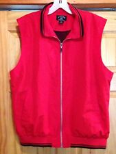 Cutter & Buck Women's Vest Zip Front Polyester Large Red Blue Lined