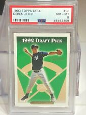 PSA 8 Derek Jeter 1993 Topps Gold Rookie Rc #98 Yankees