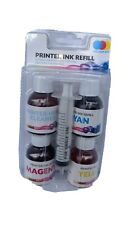 COLOUR INK REFILL KIT FOR OVER 750 PRINTERS INC EPSON HP BROTHER CANON