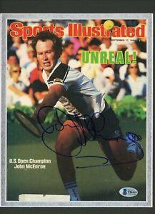 John McEnroe Wimbledon Signed Autographed Sports Illustrated Double Matted BAS
