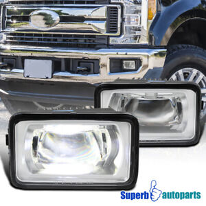 For 2017-2018 Ford F250 F350 Super Duty Bumper LED Fog Lights Lamps Pair