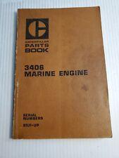 Caterpillar 3406 Marine Engine Parts Book Manual Pub 1973