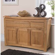 Crescent solid oak dining room furniture large storage sideboard
