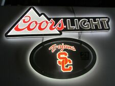 """New 36"""" Coors Light Usc College Football Led Metal Beer Sign Neo neon bar Light"""