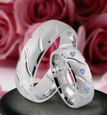 Trauringe Eheringe Verlobungsringe mit echten Blautopas , Silber 925 , J57-3B