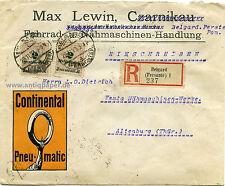 Reco Firmenbrief MeF Infla Fahrrad- u. Nähmaschinen-Handlung Lewin Belgard 1923