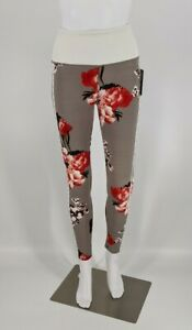BSP Better Sports Performance Women's Gray Floral Active Leggings NWT