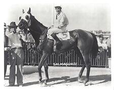 SALMAGUNDI 8X10 PHOTO HORSE RACING PICTURE JOCKEY