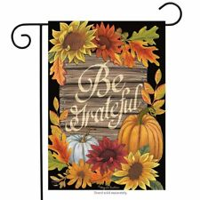 "Be Grateful Fall Garden Flag Thanksgiving Floral Autumn 12.5"" x 18"""