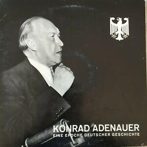 KONRAD ADENAUER: Eine Epoche Deutscher Geschichte (LP mit 16-Seiten-Heft / NM)