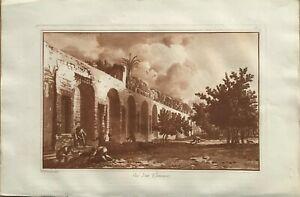 """VUE D""UN GIMNASE"" Sicily. Original Aquatint by JEAN HOUEL,1782."
