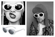 Vintage Nirvana Kurt Cobain Sunglasses Round Clout Mens Ladies White