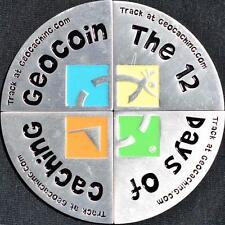 12 DAYS OF CACHING - VINTAGE 2006 SET OF 4 GEOCOINS