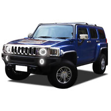 Brightest White LED Halo Ring Headlight Fog Light Kit for Hummer H3 06-10
