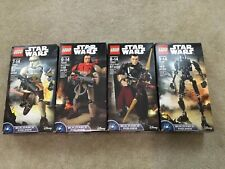 LEGO Star Wars Buildable 4 Figure Lot New Sealed In Box 75120 75523 75524 75525