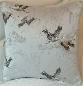 Laura Ashley New Season Animalia luxury silver embroidered Cushion Cover 16""
