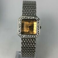 Victoria Wieck Womens B4055 Silver Tone Crystal Dial Stainless Steel Watch