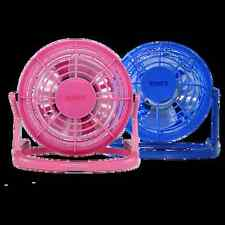 "4"" USB POWERED DESK FAN OFFICE HOME USE ADJUSTABLE ANGLE  BLUE PINK COOL NEW"