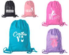 Personalized Dance Bags Ballet Drawstring Backpack Cotton for Girls BULK