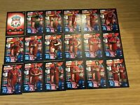 MATCH ATTAX 2019/20 LIVERPOOL FULL TEAM SET OF ALL 18 CARDS MINT
