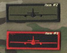 """USAF LOCKHEED U-2 SPY PLANE IN GOD WE TRUST MONITOR ALL OTHERS 1X3"""" 2-TAB: #2+#3"""