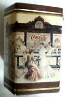 Old Vintage Rare Coca Cola Collectible Tin With Original Coke Cola Tag