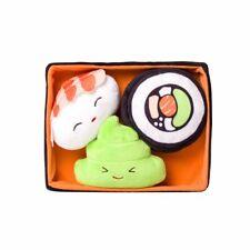 NEW! SUSHI BENTO BOX DOG TOY 4pc SET PLUSH w/ SQUEAKERS