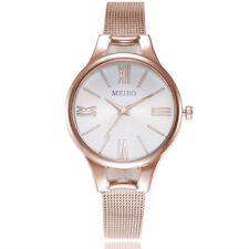 Lujo Acero Inoxidable Damas Mujeres Chicas cuarzo analógico reloj de pulsera
