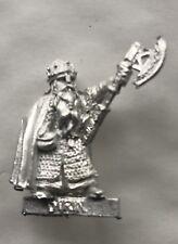 Dwarf King Durin OOP War of the Ring unpainted metal model LOTR Games Workshop