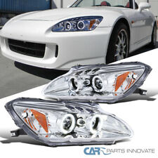 Fit Honda 00-03 S2000 S2K AP1 Clear LED Halo Projector Headlights Headlamps Pair