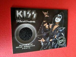 KISS KLOTHES ROCKER GENE SIMMONS WORN PANTS SWATCH RELIC CARD 2009 PRESS PASS