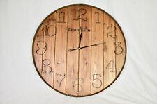 Wood Barrel Wall Clock