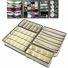 4PCS Set Foldable Organizer Drawer Storage Box Case For Bra Ties Underwear Socks