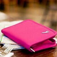 Travel Passport Holder ID Credit Card Case Cash Document Bag Wallet FM