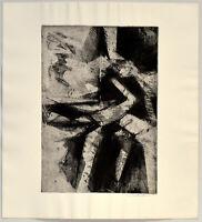 Rolf Sackenheim: Abstrakte Komposition. Signierte Original-Radierung.