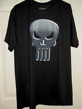 New Mens size Small 34-36 The Punisher T-Shirt 100% Polyester Black Marvel