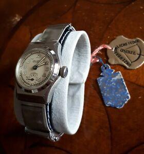 Antike alte Armbanduhr HAU Laco Sport NOS ungetragen um 1940 einmalige Qualität