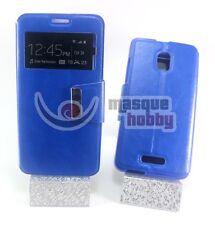 Funda Carcasa Libro Iman Soporte Alcatel One Touch POP STAR OT5022D Azul NUEVO