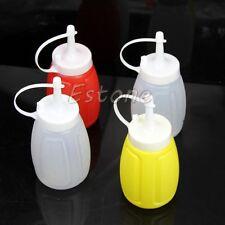 2 Pcs 200ml Plastic Squeeze Bottle Condiment Dispenser Ketchup Mustard Sauce