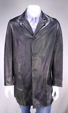 JIL SANDER  Black Leather 3/4 Length Coat Eu 50 - US 40